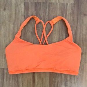 Lululemon Orange sport bra. Size 4.